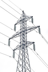 Electric tower for high voltage isolated