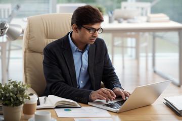 Businessman working in office