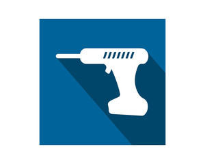 electric drill construction repair fix engineering tool equipment image vector icon logo