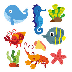 marine life vector collection design