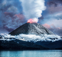 Canvas Prints Volcano #09078423