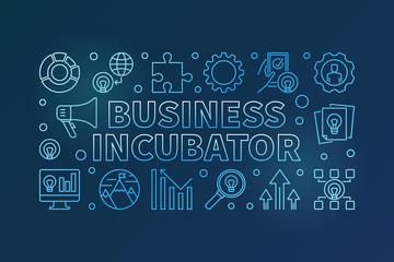 Business Incubator blue horizontal vector creative banner