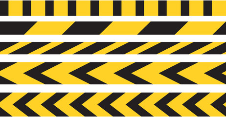 Caution tape border vector.