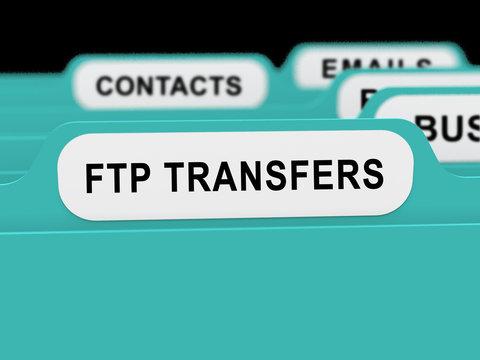 Ftp File Transfer Transferring Data 3d Rendering