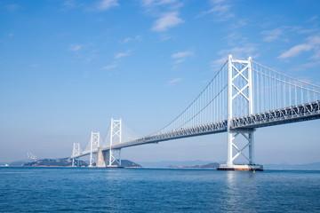 Seto Ohashi Bridge in seto inland sea,kagawa,shikoku,japan