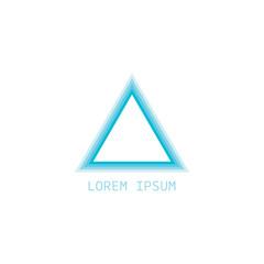 pyramid logo vector illustration. triangle logo . modern logo.