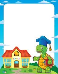 Turtle teacher theme frame 1