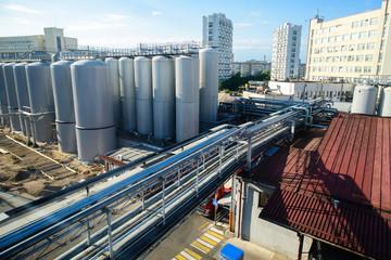 Brewing Tanks. Barrels for fermenting beer