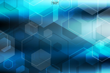 Abstract blue technology background.Vector.