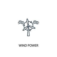 Wind Power concept line icon. Simple element illustration
