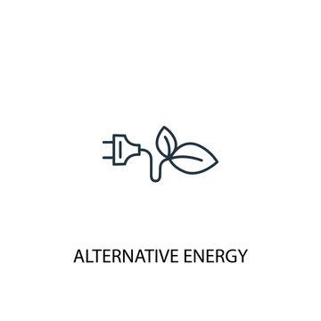 Alternative energy concept line icon. Simple element illustration