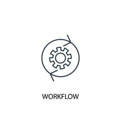 workflow concept line icon. Simple element illustration