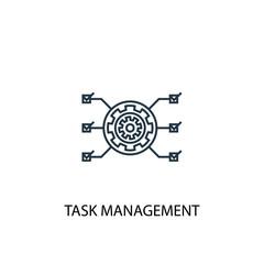 task management concept line icon. Simple element illustration