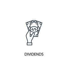 Dividends concept line icon. Simple element illustration