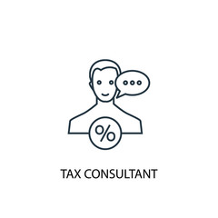 tax consultant concept line icon. Simple element illustration