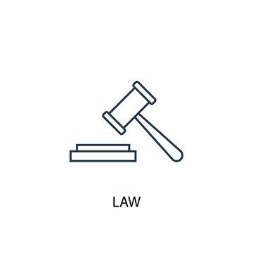 Law concept line icon. Simple element illustration