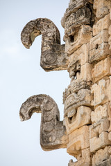 Uxmal Pyramids, detailed decor