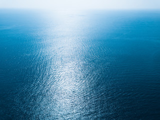 Wall Mural - Sea surface aerial view with horizon