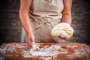 Famela baking bread