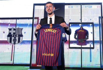 FC Barcelona's Clement Lenglet Presentation