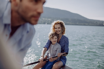 Family on sailing trip