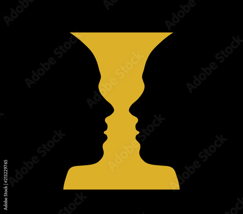 Rubin Vase Optical Illusion Stock Image And Royalty Free Vector