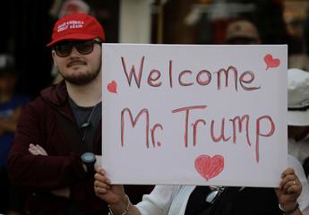 Pro Donald Trump supporter at Windsor Castle