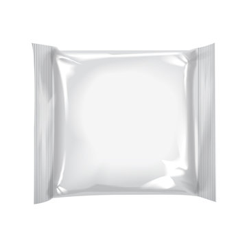 Blank square package with for cheese, food, snacks