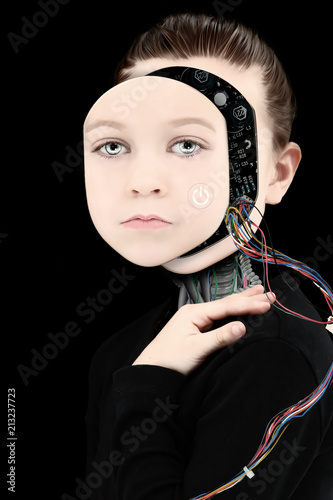 Image result for cyborg child