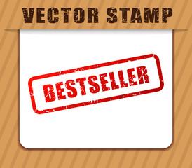 bestseller buffered on white paper
