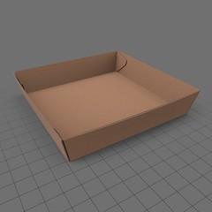 Cardboard food tray