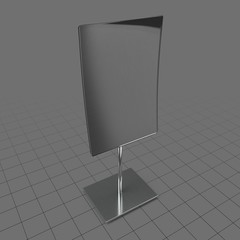 Curved tabletop mirror