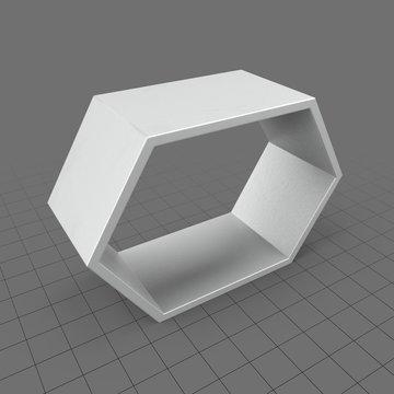Hexagonal display unit