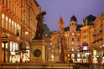 Saints Joseph fountain on Graben street in Vienna. Austria