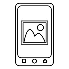 smartphone device with picture file