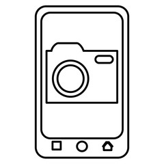 smartphone device with photographic camera