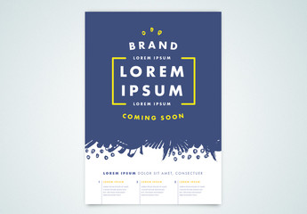 Event Poster Layout with Blue Illustration Elements