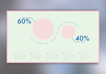 Pink and Mint Green Infographic Poster Layout