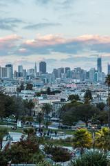 Dolores Park San Francisco city sunset