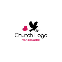 Church logo. Pigeon of the Creed