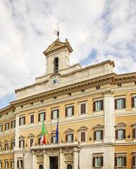 Palazzo Montecitorio in Rome. Italy