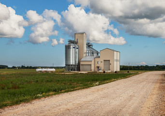 Storage of grain.