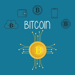 bitcoin with set icons