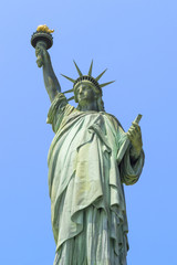 Close-up about statue of liberty