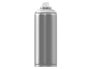 steel spray can for painting template from front or side view isolated on a white background 3d rendering