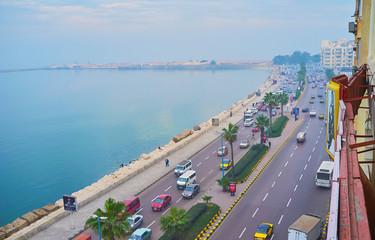 Seafront of Alexandria, Egypt