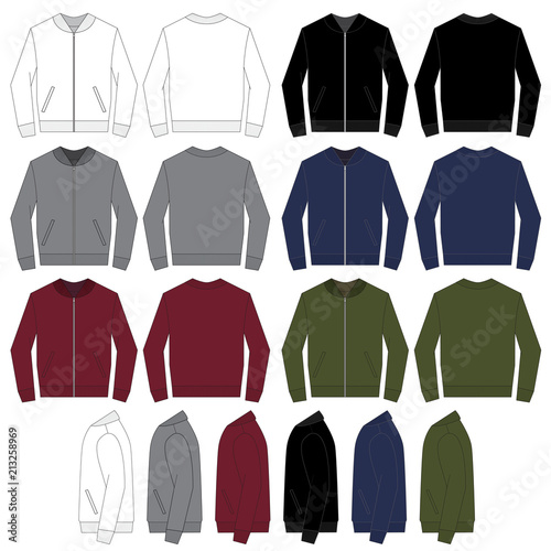 Vector Template For Bomber Jackets Stock Image And Royalty Free