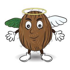 Vector Illustration of Coconut like an Angel