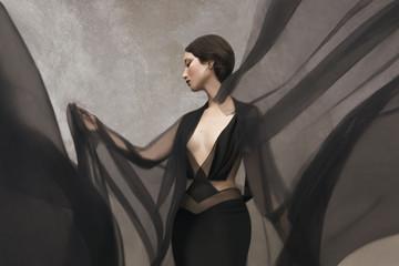 Portrait of standing woman