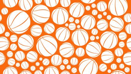 basketball background seamless pattern vector illustration eps10